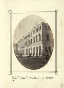 El teatro Calderón en 1865