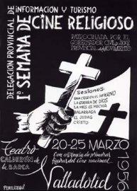 Cartel de la I Semana de Cine Religioso de Valladolid