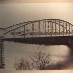 Puente colgante siglo XIX