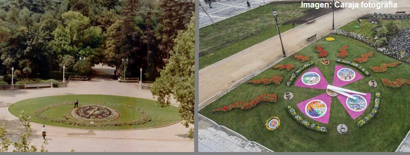 Comparación del reloj floral en 1966 y el actual