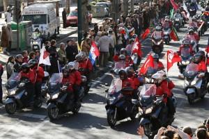 Desfile de motos