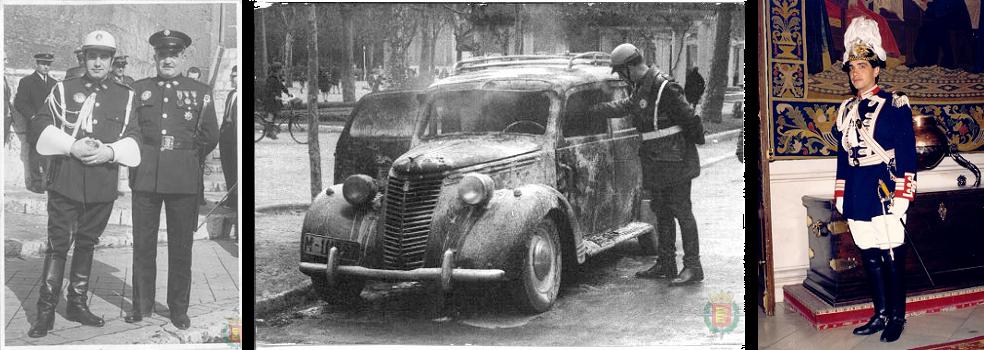 Dos agentes uniformados, años 60 / Accidente de tráfico, años 60 / Agente con traje de gala, 1987