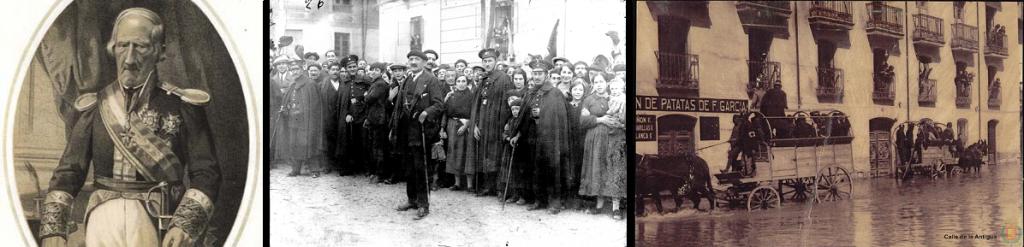 El  duque de Castroterreño / Agentes entre la multitud, años 20 / Inundación en la calle Esgueva, 1926