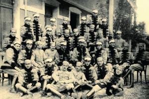 Primera promoción de la Academia de Caballería en Valladolid