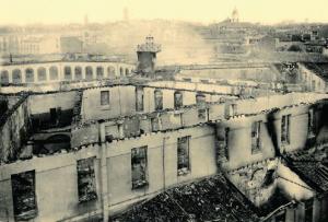 Estado del octógono después del incendio de 1915