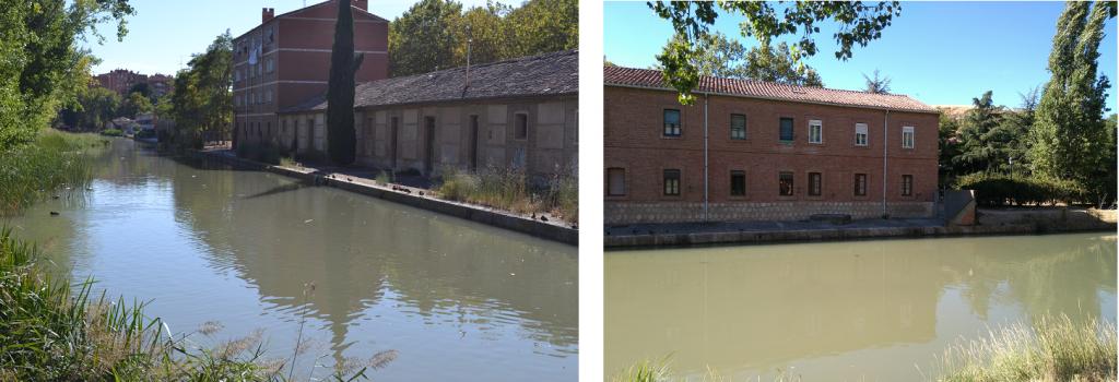 La dársena del Canal de Castilla en Valladolid