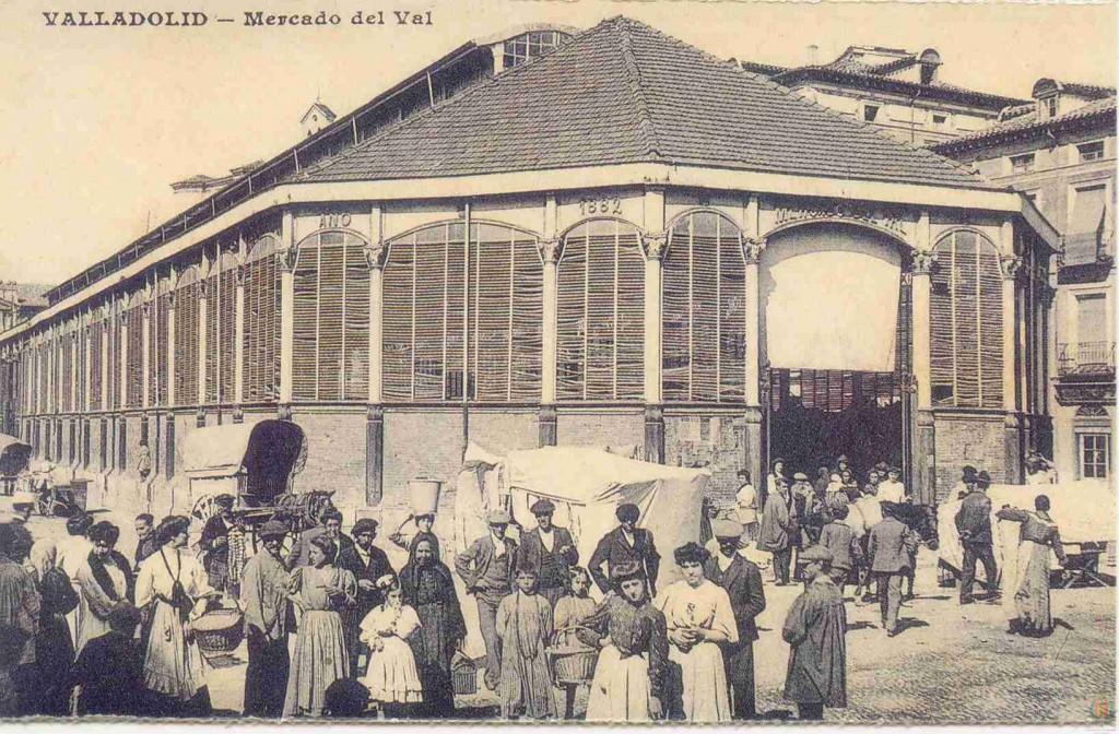 El Mercado del Val, a principios del siglo XX, ya sin la cúpula.