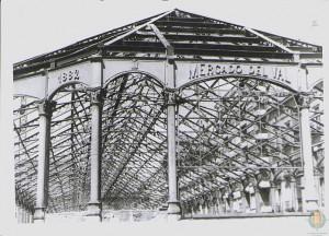 El mercado durante la restauración de 1984
