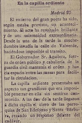 Crónica de El Eco de Castilla