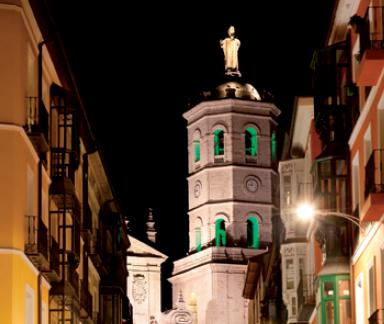 torre Catedral de Valladolid de noche