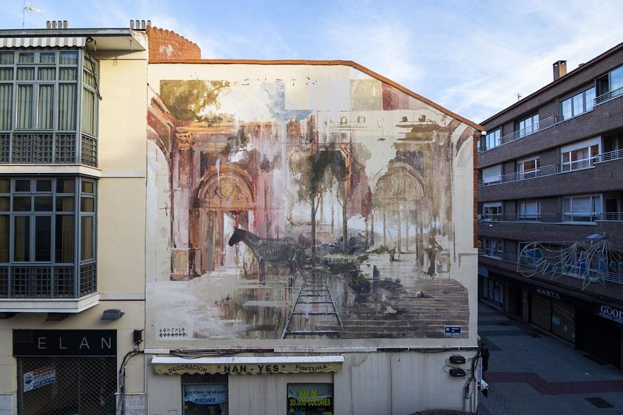 Mural en la calle Simón Aranda