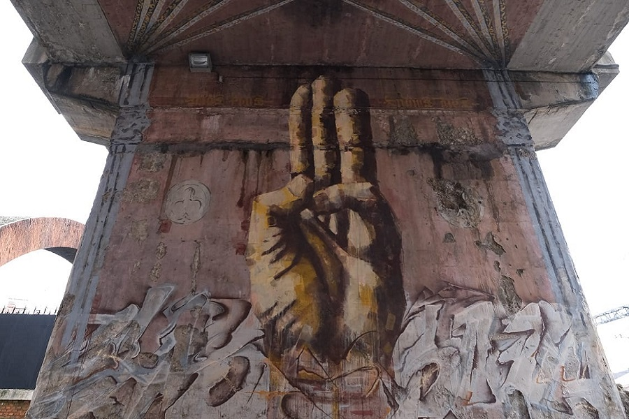 Murales en el entorno de Arco de Ladrillo
