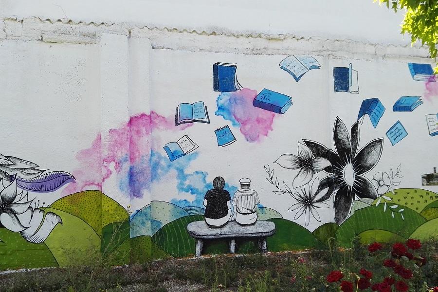 Mural en Barrio España