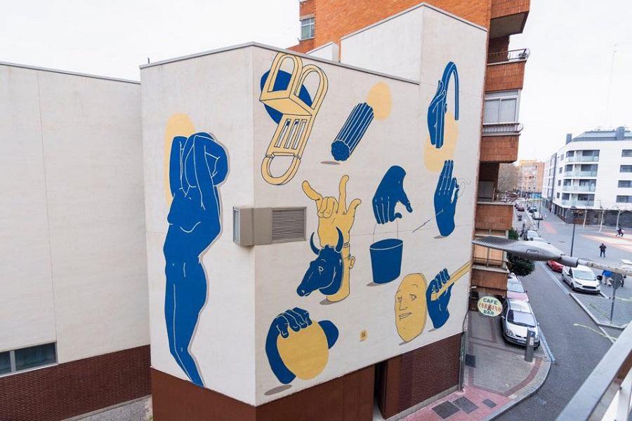 Mural en la calle Santa Lucía