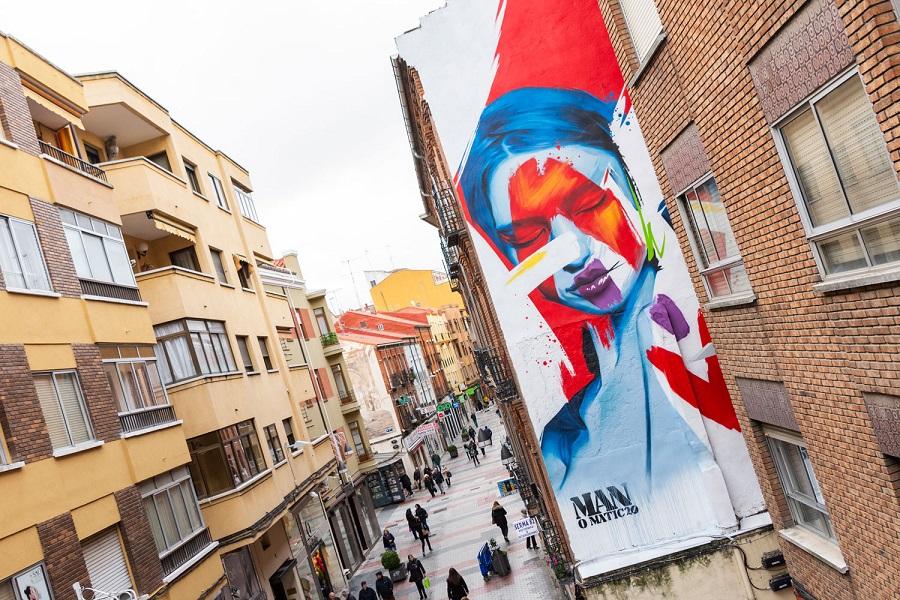 Mural en la calle de la Mantería