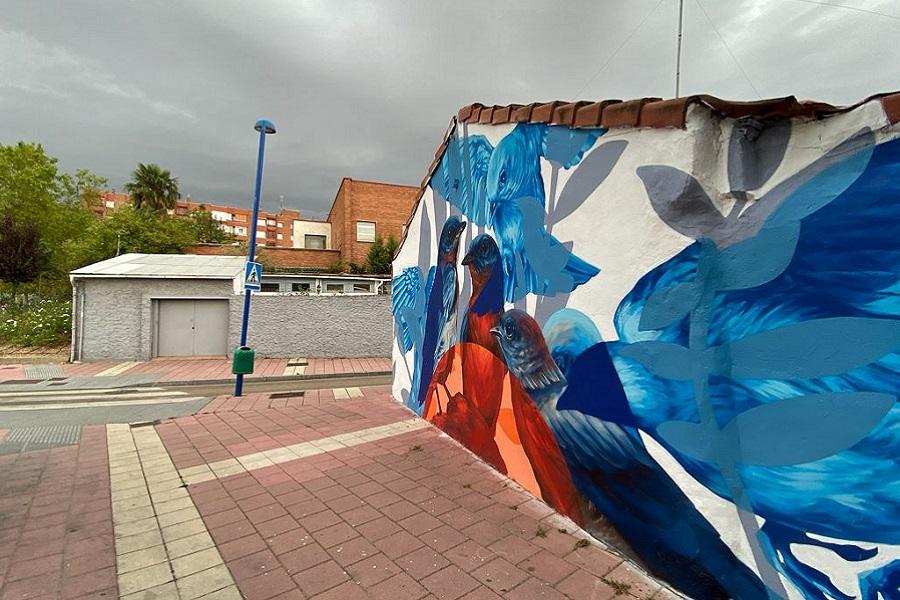 mural pajaros